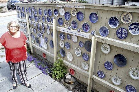 SLIK VAR DET: Tordis Dahl-Bentzen viste fram sin nyeste byforskjønnelse i juni.