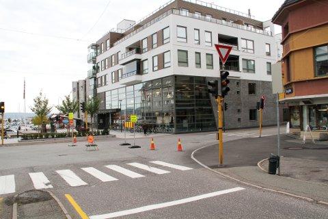 GULBLINK: Da trafikklysene ble satt ut av funksjon, ordnet situasjonen seg.