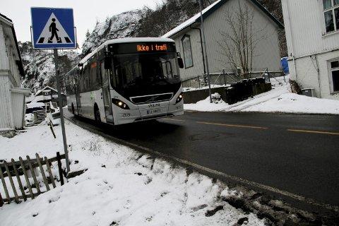 Ny trasé: For bussene i byen. Arkivfoto
