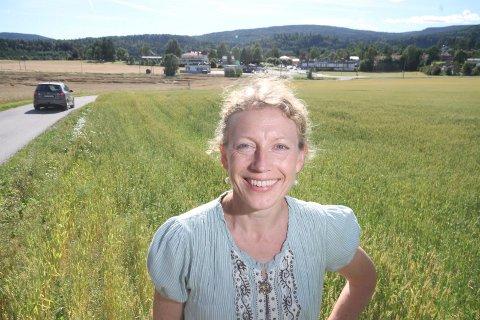POSITIV: Anne Nordby Skarstad i Senterpartiet mener Borger AS' planer for HBA-bygget vil styrke Hof.