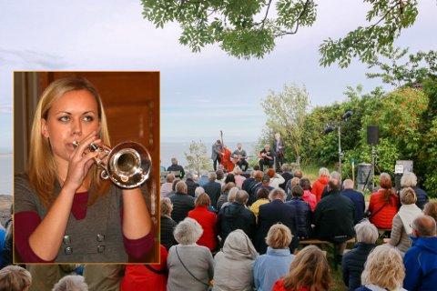 POPULÆRT: Heisoppgangskonserten er i ferd med å bli en juni-tradisjon i Holmestrand. I år er det Tine Thing Helseth (innfelt) med trio som skal stå for musikken.