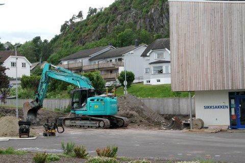 UTVIDELSE: Arbeidene med å utvide kapasiteten ved Gausetangen barnehage kom i gang denne uken.