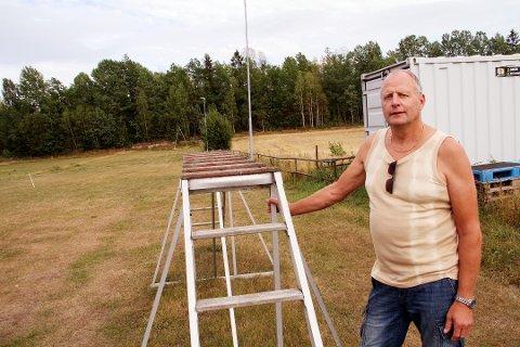 GODT BRUKT: Den tidligere faste treningsbanen til Holmestrand Hundeklubb på Grette ble godt brukt, ifølge leder Vidar Holen.