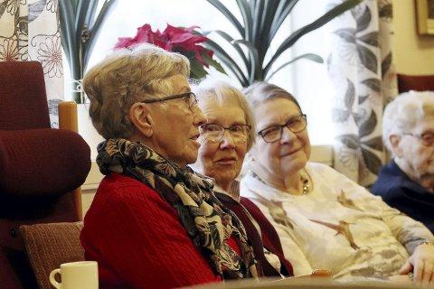 Rundt 25 møtte: Anne Lise Drevdal ville gjerne ha tips til hvordan Seniornett skal få med seg flere. Foto: Pål Nordby