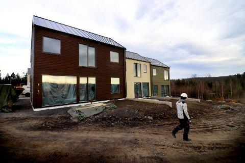 16 av 18: Det har tatt tid, men nå er Prestegårdshagen i ferd med å bli en realitet i Hof. 16 av 18 solgt i første byggetrinn er bra. Foto: Jarl Rehn-Erichsen