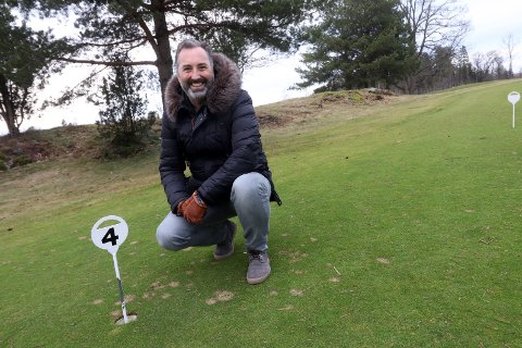 Martin Hundstad ved Solum Golfbane gleder seg over å kunne åpne banen i januar. Søndag er det ventet storinnrykk av spillere.