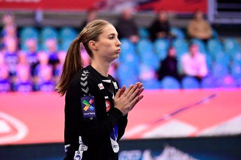 NY SEIER: Emily Stang Sando under EM kampen mellom Tyskland og Norge  i Sydbank arena.