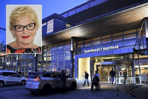VIL VEKKE Folk: Marit Haukom slår alarm, hun er redd for fram-tiden til Sykehuset i Vestfold. Foto: Øyvind Winding-Stavseth/Privat