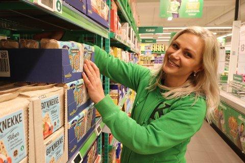 PANGSTART:  Brigita Alencikaite (31) startet som ny Kiwisjef midt i koronahamstringen i mars. Med 36 prosent økning i salget og seks nye ansettelser kan man ikke konkludere med annet enn at hun har fått en pangstart.