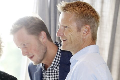 Frokostmøte på hotellet: Næringssjef Arve Vannebo og Jacob Aars-Rynning fra Bane NOR Eiendom. Foto: Pål Nordby