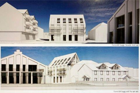 NYE PLANER: Det planlagte bygget på Gjestentomta blir trolig høyere enn det det først var søkt om. ILLUSTRASJON: AART