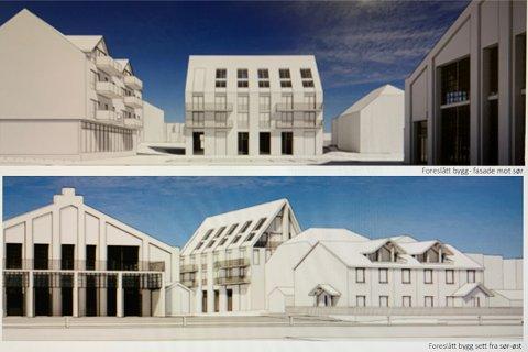VIL HØYERE: På vegne av utbygger Langgaten 21 AS har Aart Architects foreslått å øke høyden på det planlagte nybygget på Gjestentomta med 4,3 meter. ILL.: AART