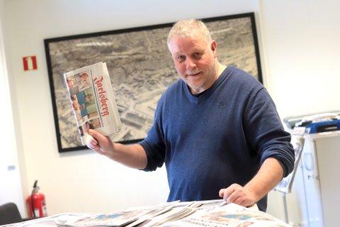 I god flyt: Redaktør Pål Nordby håper å se at grensen på 4.500 abonnenter sprenges neste gang opplagstallene for Jarlsberg presenteres i september. Foto: Jarl Rehn-Erichsen