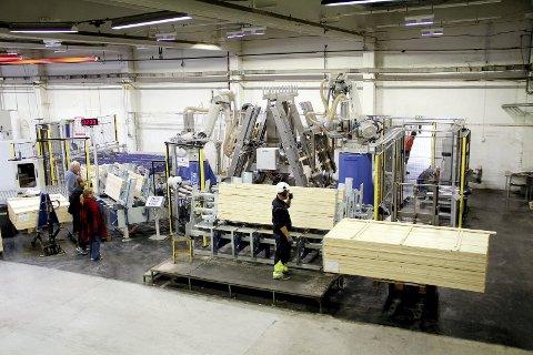 Roboter og ansatte: Hos Aven AS gjør både roboter og ansatte jobben i produksjonen. Foto: Pål Nordby