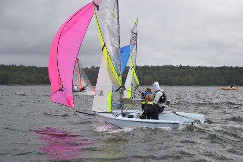 RS Feva-klassen: Arrangørene håper på 50 seilere til Barnas Skagen Race, men det kan også bli seiling i en mindre innpakning. Foto: Holmestrand seilforening