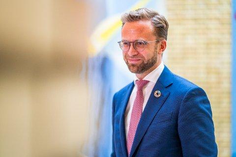Oslo 20201104.  Kommunalminister Nikolai Astrup (H) som vil få det siste ordet om politikerne i Holmestrand velger og ta en ny runde om kommunenavn.