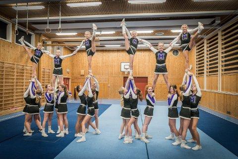 ENORM INTERESSE: Med 88 medlemmer på rekordtid er cheerleading-gruppa i Ullensaker gym og turn avhengig av et fast sted hvor alle de fire lagene kan trene.