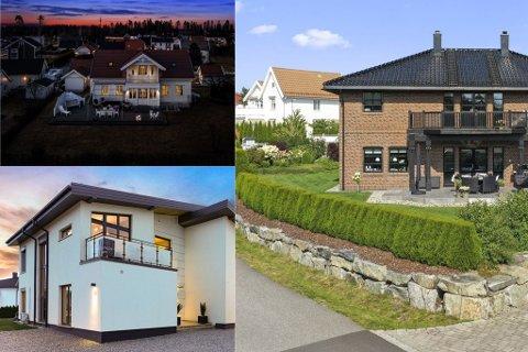 DYRE BOLIGER: Disse tre boligene har til sammen en prisantydning på over 36 millioner kroner. Alle ligger plassert innenfor samme område.