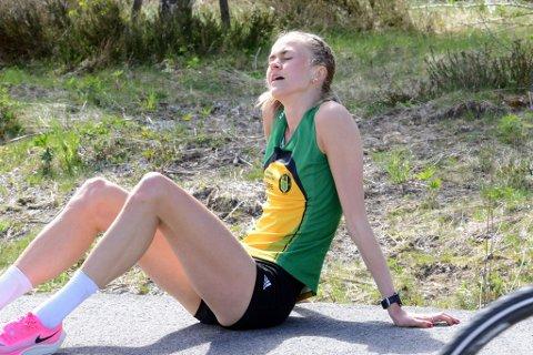 UTHOLDEN: Det var en tilfeldighet at Amalie Sæten fant ut at hun løp fortere enn svinn.
