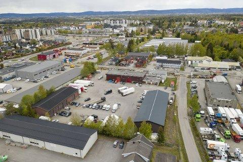 ATTRAKTIVT OMRÅDE: Næringsparken ligger midt mellom Jessheim sentrum i vest og Gystadområdet i Øst.