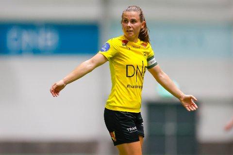 LSK kvinnes Emilie Haavi under Toppseriekampen mellom LSK Kvinner og Vålerenga i LSK-hallen.