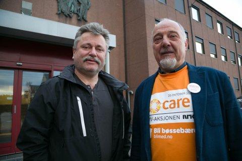 ENIG: SVs Pål K. Gabrielsen (til venstre) er ny varaordfører i Sør-Varanger, mens Aps Rune Gjertin Rafaelsen fortsetter som ordfører i fire nye år.
