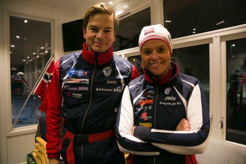 GLAD: Sportslig leder Hilde Michelsen og skitrener Lars Woll i KOS er glade for forbudet mot fluor i skismurning.
