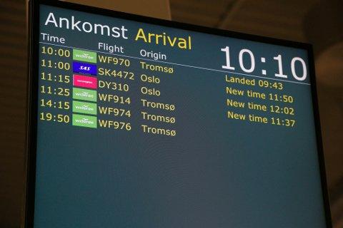 VENTETID: Når Oslo-flyene kommer til Kirkenes, er det mange passasjerer som skal videre med alternativ transport. Det kan ta tid, ifølge artikkelforfatteren. Illustrasjon.