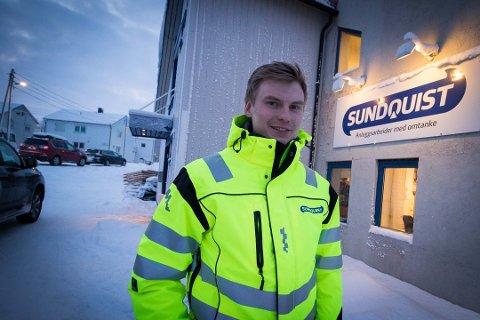 TURBULENT: Det har ikke vært den enkleste starten for Áigin Bakkehaug, som er daglig leder for Osvar Sundquist AS.