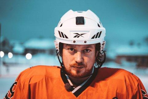 ANDREAS: Andreas Vælitalo var en populær spiller på Kirkenes Puckers og spiller en viktig rolle i TV-serien om Puckers.