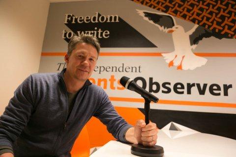 OPTIMISTISK: Publisher Atle Staalesen i The Independent Barents Observer har tro på ny vekst, blant annet ved hjelp av Podcast til russiske lesere og lyttere.