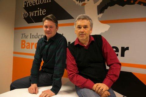 MOT ALLE ODDS: Independent Barents Observer overlever som uavhengig nyhetsformidler av nyheter til og for russere. Men det er det ikke alle som har ønsket siden nettavisen ble startet i 2002, sier publisher Atle Staalesen (til venstre) og redaktør Thomas Nilsen.