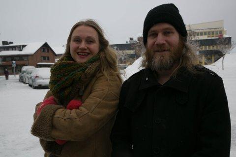 AMBISIØSE: Anja Eline Danielsen og Kjell Gunnar Monsen i Havalge AS er godt i gang med Prosjekt flytebrygge.