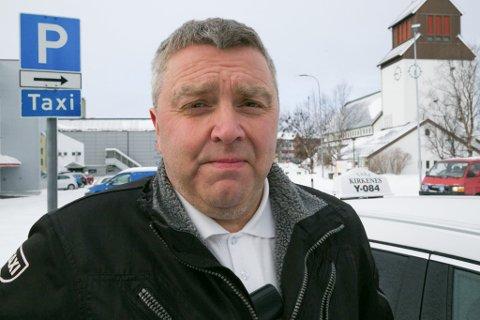BEKYMRET: Taxisentralene tar sine forholdsregler for å holde alle sjåførene sine i arbeid, sier daglig leder i Kirkenes Taxi, Bjørn-Eirik Mikkola.