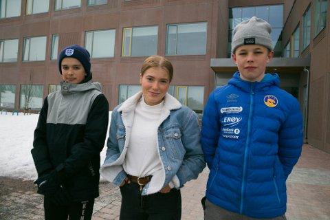 REIN: Rein EB fra Sandnes og Bjørnevatn skole, Kenneth Andersen, Kaisa Vindseth og Eirik Holm-Fredriksen. Steffen Jørgensen var til frisøren da bildet ble tatt.