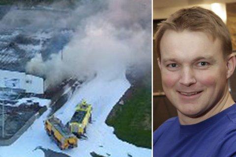DRAMATISK: Intersport på Hesseng brant ned til grunnen i juni 2018.