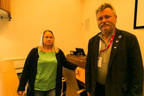POSITIV: Sandra Asmyhr skal lede koronateststasjonen på Storskog. Fungerende ordfører Pål K. Gabrielsen er glad for at de har fått organisasjonen opp så raskt.