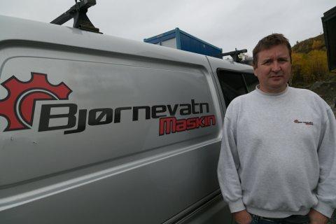 SUKSESS: I 2008 startet Magne Persen opp Bjørnevatn Maskin. - Vi har bygd bedriften opp sakte, men sikkert, sier han.