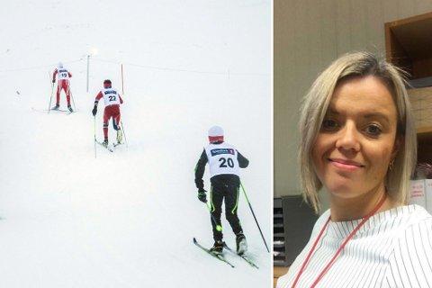 RENNLEDER: Hilde Michelsen er rennleder for finnmarksmesterskapet på ski og mener det er rart at arrangementet går av stabelen som planlagt.