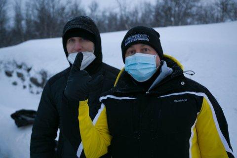 OLEG OG OLEG: Sjøfolkene Oleg Garnienkov (nærmest) og kameraten, Oleg Sekendovski.