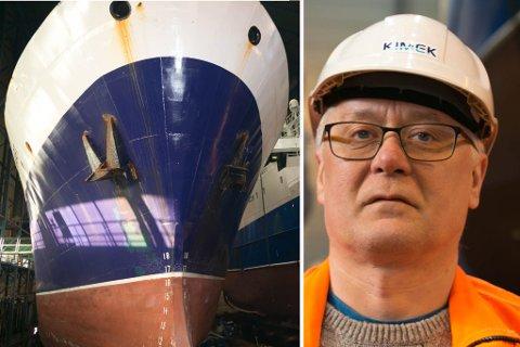 OPTIMISTISK: Produksjonssef Ørjan Hauge er optimistisk på vegne av Kimek. Nå har de engelig arbeid nok.