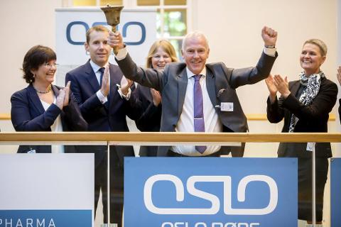 OVERSKUDD: Direktør Kjell-Erik Nordby under noteringen av Vistin Pharma på Oslo Børs i juni i fjor. Tirsdag kunne han melde om et årsresultat på 21,4 millioner kroner.
