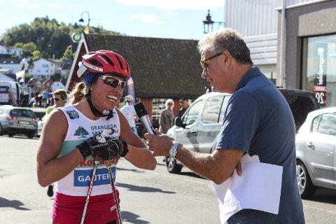 Ikke i toppform: Dagsformen til Justyna Kowalczyk er, følge henne selv, ikke på sitt beste i dag. Likevel tok hun fatt på de 8 mila opp mot Gautefall.