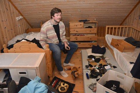 Endevendt: Rommet til Sondre Lindhagen Nilssen er endevendt etter et innbrudd i huset hans sist uke.