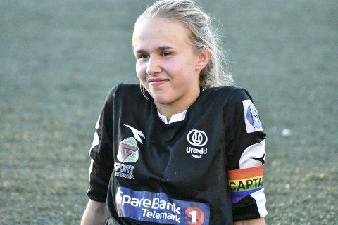 Sjef: Frida Brødsjø har vært kaptein for Urædds andrelag i 2. divisjon denne sesongen.