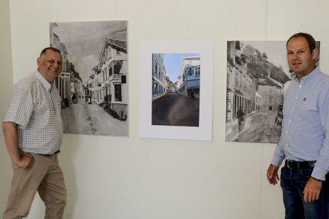 Morten Skjævestad og Øistein Tovsen stiller ut malerier og fotografier i Løkka, «Kragerø og malerne – før og nå»