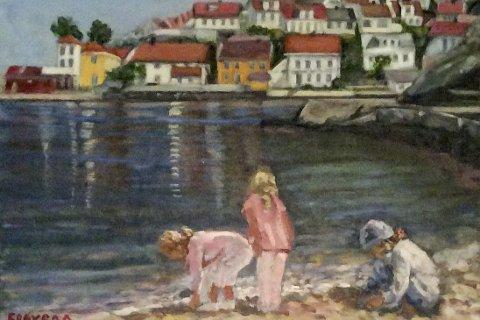 Maleri av Borgny Frøysaa som er først ut i Galleri Kragerø.