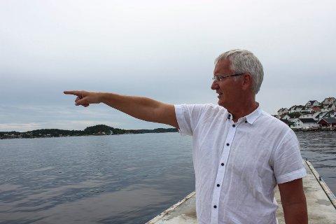IKKE PRIORITERT: Utvidelsen av innseilingen til Kragerø, farleden som det heter på fagspråket, har ikke blitt prioritert av staten. – Båten gikk på grunn midt i området som er foreslått utbedret, sier havnefogd Svein Arne Walle.
