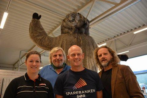 Gleder seg: Paulina Claesson, Helge Rognli, Frode Steffensen og Thomas Bakkerud ser fram til trollfesten.