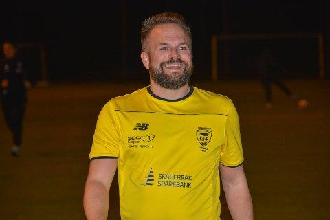 Scoret: Trond Nøstvold Tou scoret sitt første a-lagsmål for Kragerø, da hjemmelaget vant hele 10–2 hjemme mot bunnlaget Stathelle 2.